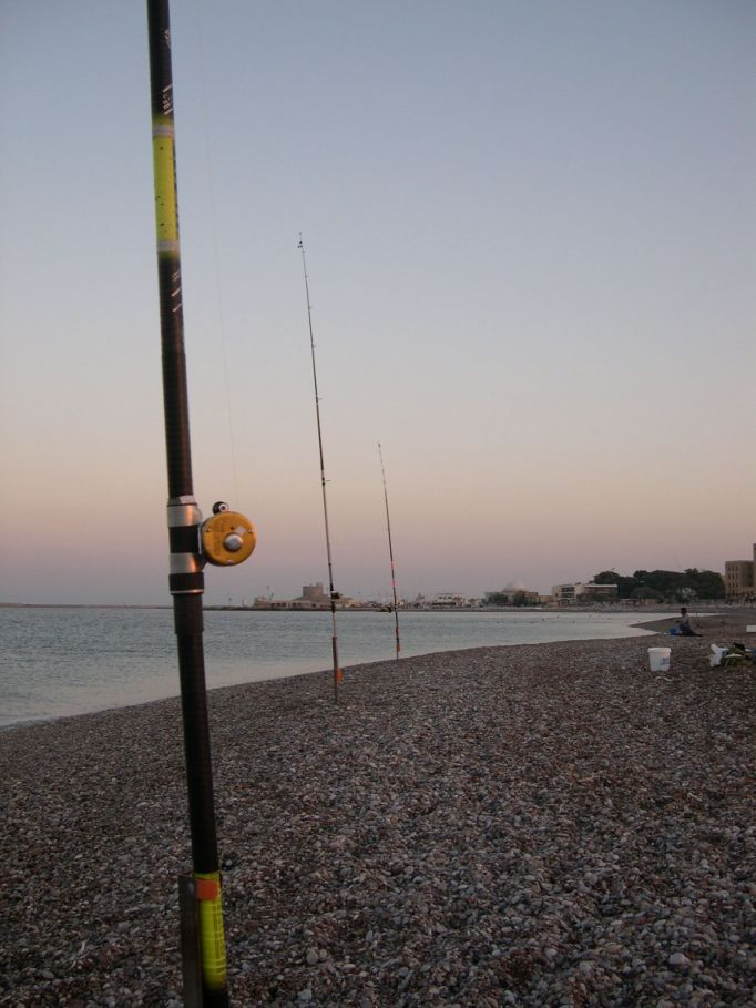 The stiff rod for Target fishing pole